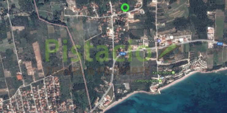 Building plot 1223 sqm for sale, peninsula Pelješac, Orebić, Stanković