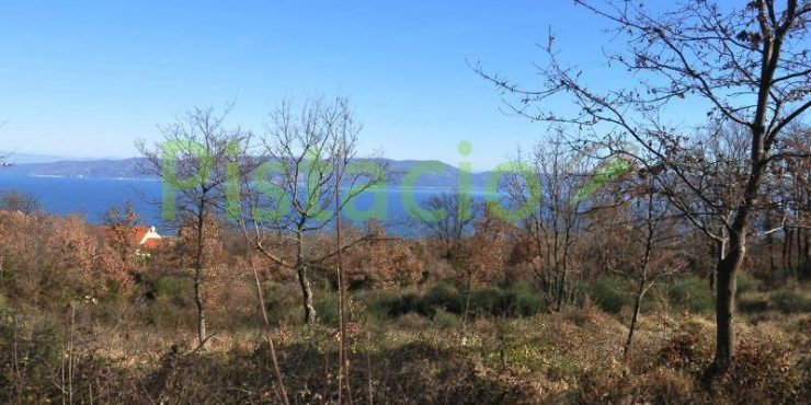 Building land for sale Labin Drenje Istria, sea view 1.069 sq.m.