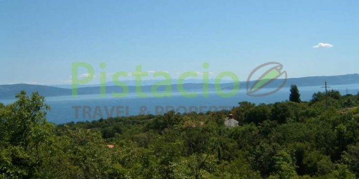 Building land for sale Labin Drenje Istria with building permit 1,093 sq.m.